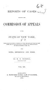 Reports of Cases Decided in the Commission of Appeals of the State of New York: Volume 57