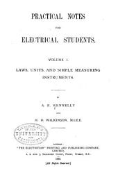Practical Notes for Electrical Students: Volume 1