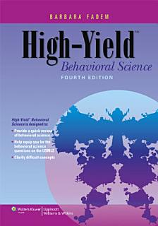 High Yield Behavioral Science Book