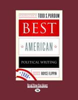 Best American Political Writing 2008  Large Print 16pt  PDF