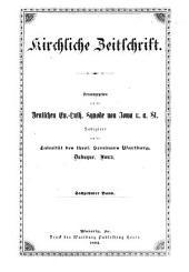 Kirchliche Zeitschrift: Volumes 16-19