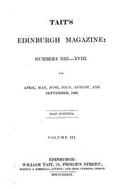Tait's Edinburgh Magazine: Volume 3