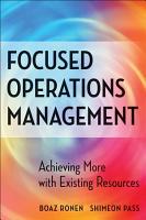 Focused Operations Management PDF