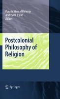 Postcolonial Philosophy of Religion PDF
