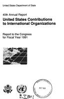 United States Contributions to International Organizations PDF