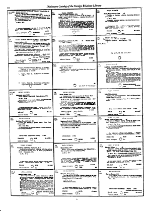 Catalog of the Foreign Relations Library