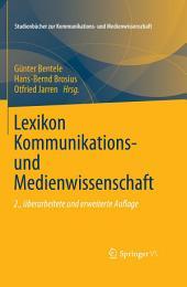 Lexikon Kommunikations- und Medienwissenschaft: Ausgabe 2