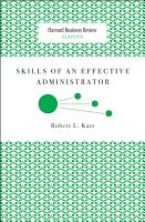 Skills of an Effective Administrator PDF