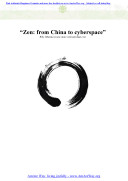 Zen: from China to Cyberspace