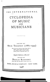 The International Cyclopedia of Music and Musicians PDF