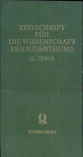 Zeitschrift für die Wissenschaft des Judenthums