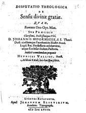 De sensu divinæ gratiæ