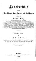 Tagsberichte   ber die Fortschritte der Natur  und Heilkunde  Weimar PDF