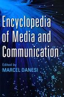 Encyclopedia of Media and Communication PDF