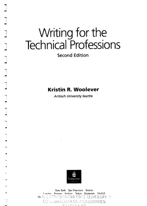 Writing for the Technical Professions PDF