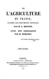 De l'agriculture en France d'après les documents officiels: Volume2