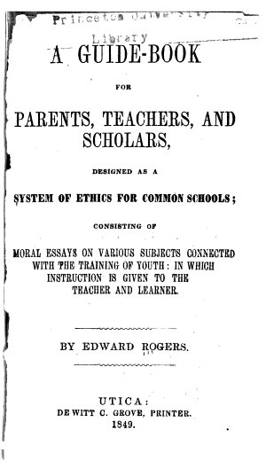 A Guide book for Parents  Teachers and Scholars