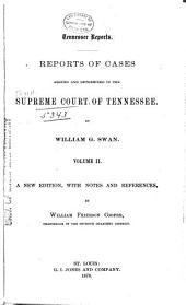 Reports of Cases Argued and Determined in the Supreme Court of Tennessee: Volume 32