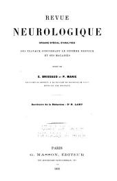 Revue neurologique: Volume1