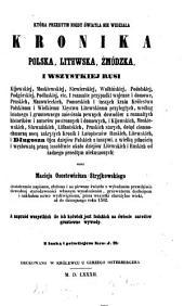 Kronika polska, litewska, żmódzka i wszystkiej Rusi