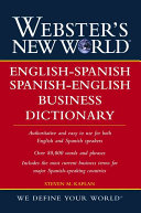 Webster s New World English Spanish   Spanish English Business Dictionary Book