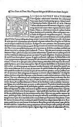 Divo Sixto IIII... Platynae Dialogus de falso et vero bono