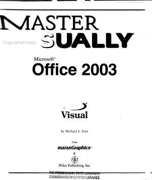 Master Visually Microsoft Office 2003 PDF