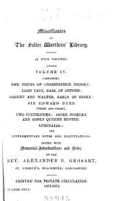 The Fuller Worthies' Library: Volume 39