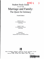 Marriage and Family PDF