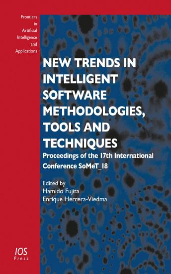 New Trends in Intelligent Software Methodologies  Tools and Techniques PDF