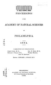 Proceedings of the Academy of Natural Sciences of Philadelphia: Volume 36