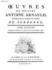 Œuvres de messire Antoine Arnauld: Volume6