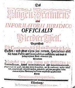 Des Klugen Beamtens oder INFORMATORII JURIDICO OFFICIALIS  PDF