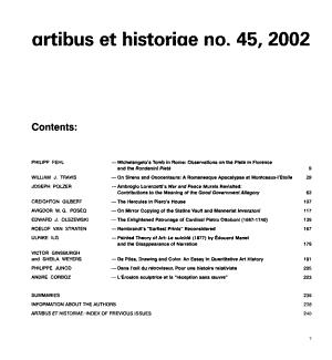 Artibus Et Historiae PDF