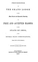 Proceedings of the Grand Lodge of the Most Ancient and Honorable Fraternity of Free and Accepted Masons of the State of Ohio PDF