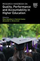 Research Handbook on Quality  Performance and Accountability in Higher Education PDF