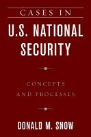 Cases in U S  National Security PDF