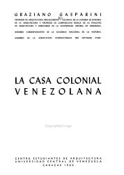 La casa colonial venezolana PDF