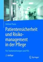 Patientensicherheit und Risikomanagement in der Pflege PDF