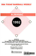 USA Today Baseball Weekly 1992 Almanac