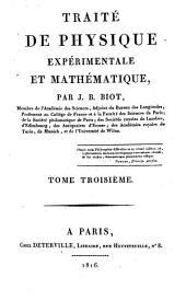 Traité de physique expérimentale et mathématique: Volume3