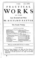 The Practical Works of the Late Reverend and Pious Mr  Richard Baxter  PDF