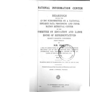 National Information Center  Hearings on 88 1 PDF
