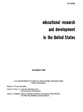 Educational Research and Development in the United States PDF
