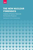 The New Nuclear Forensics PDF