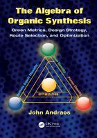 The Algebra of Organic Synthesis PDF