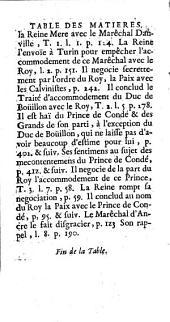 Histoire de Henry de La Tour d'Auvergne, duc de Bouillon, où l'on trouve ce qui s'est passé de plus remarquable sous les règnes de François II, Charles IX, Henry III, Henry IV, la minorité et les premières années du règne de Louis XIII: Volume3