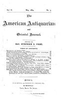 The American Antiquarian and Oriental Journal PDF