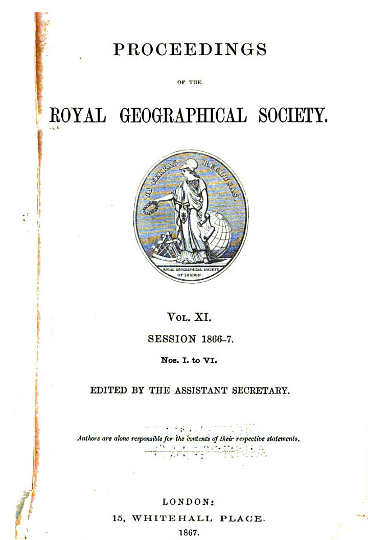 Proceedings of the Royal Geographical Society