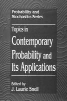 Topics in Contemporary Probability and Its Applications PDF